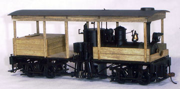 Banta Modelworks O HO Scale Kit On30 Wood Peaked Roof Cab Bachmann Gas Mech